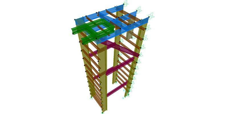 SAP2000-hose-hanger-platform-3D-view