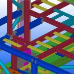 TEKLA-model-selected-view-of-gas-turbine-package-module