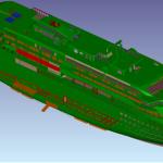 3D model of entire vessel  Polar Cruiser in AVEVA PDMS